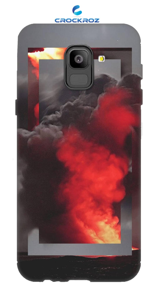 SAMSUNG On6 Fire smoke Designed Back Cover