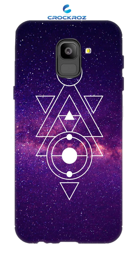 SAMSUNG On6 Triangular Designed Back Cover