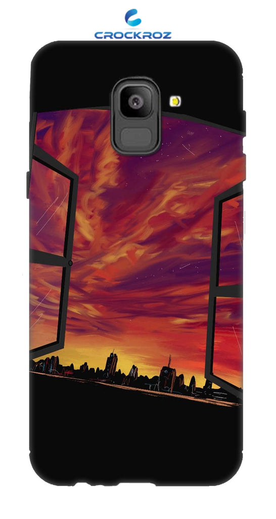 SAMSUNG On6 Dark city Designed Back Cover