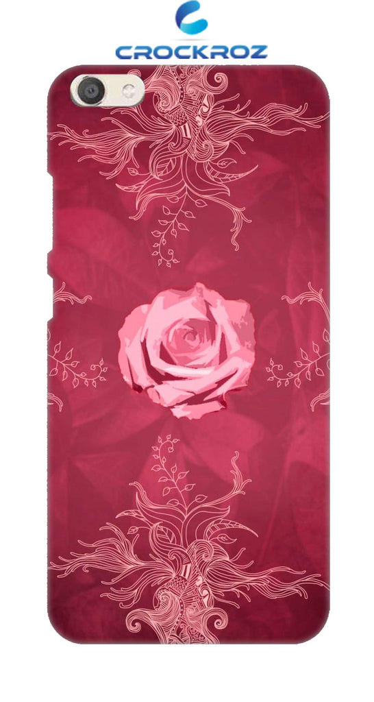 Vivo V5 Rosy rose Designed Back Cover