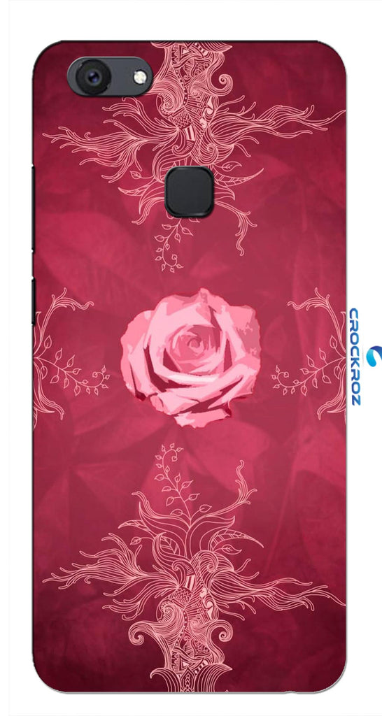 Vivo V7 Plus Rosy rose Designed Back Cover