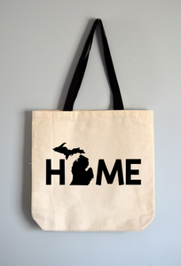 Michigan Home Word Tote Bag