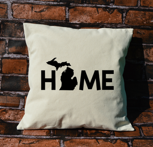Michigan Home Word Pillow