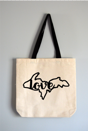 Upper Penninsula Love Tote Bag