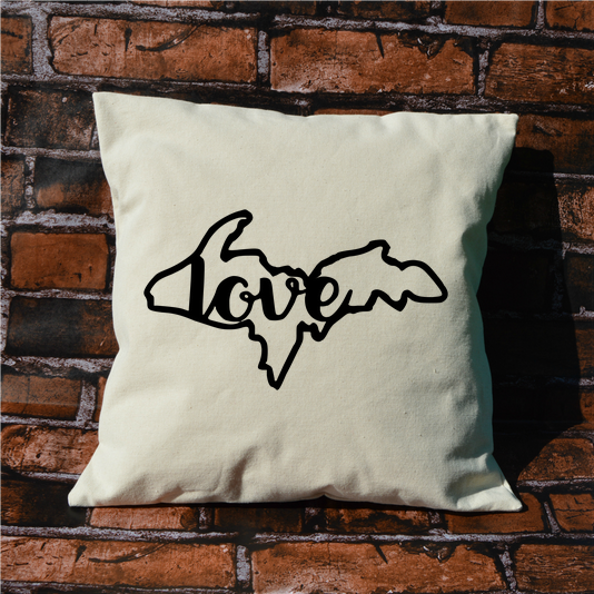 Upper Penninsula Love Pillow