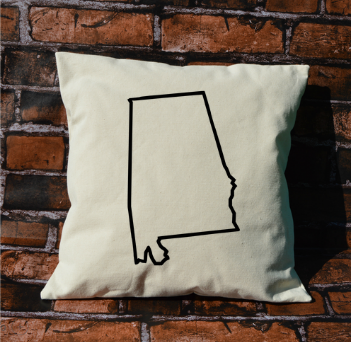 Alabama Outline Pillow
