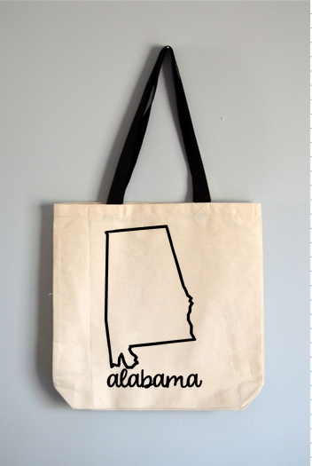 Alabama Name Tote Bag