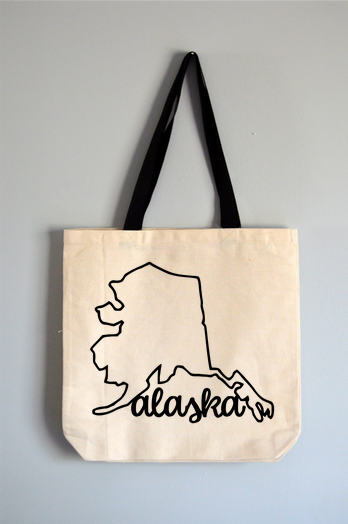Alaska Name Tote Bag