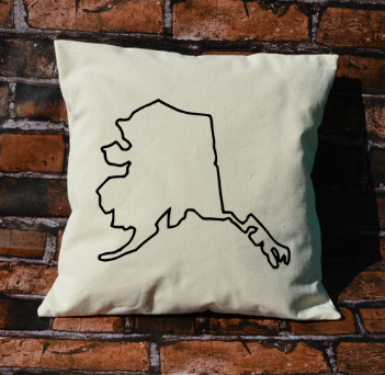 Alaska Outline Pillow