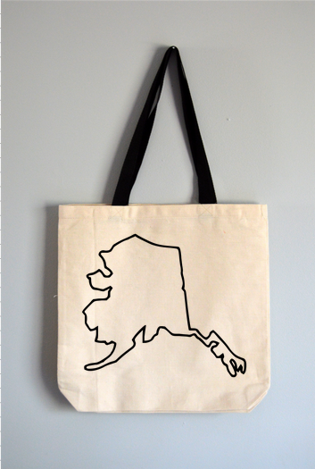Alaska Outline Tote Bag