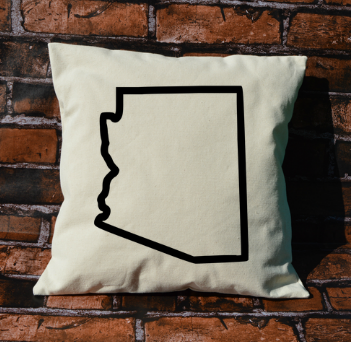 Arizona Outline Pillow