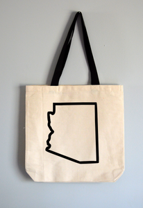 Arizona Outline Tote Bag