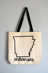 Arkansas Name Tote Bag