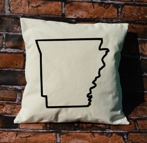 Arkansas Outline Pillow