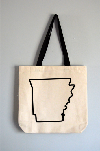 Arkansas Outline Tote Bag