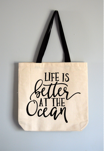 Better at the Ocean Tote Bag