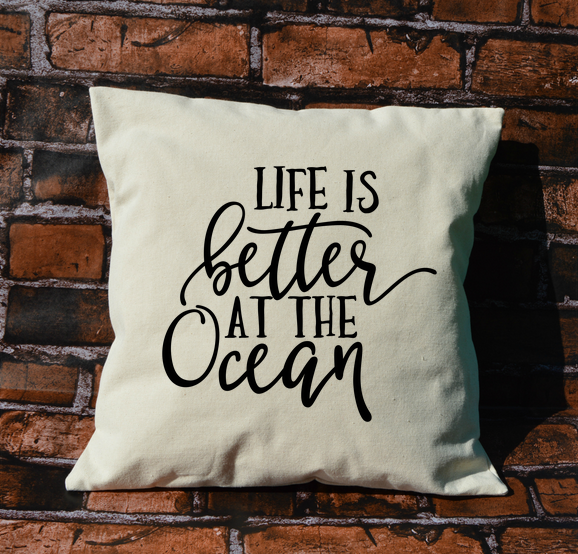 Better at the Ocean Pillow
