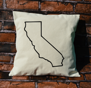California Outline Pillow