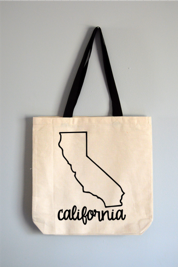California Name Tote Bag