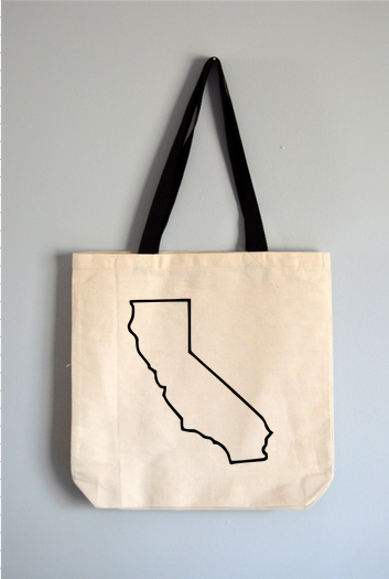 California Outline Tote Bag