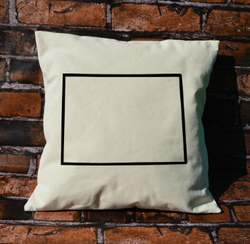 Colorado Outline Pillow