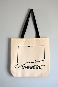 Connecticut Name Tote Bag