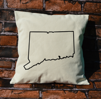 Connecticut Outline Pillow