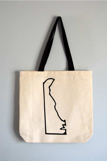 Delaware Outline Tote Bag