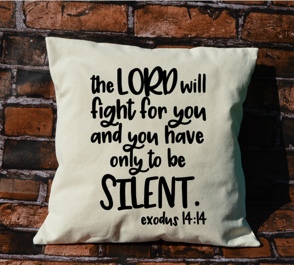 Exodus 14:14 Pillow