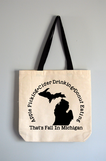 Michigan Fall Tote Bag