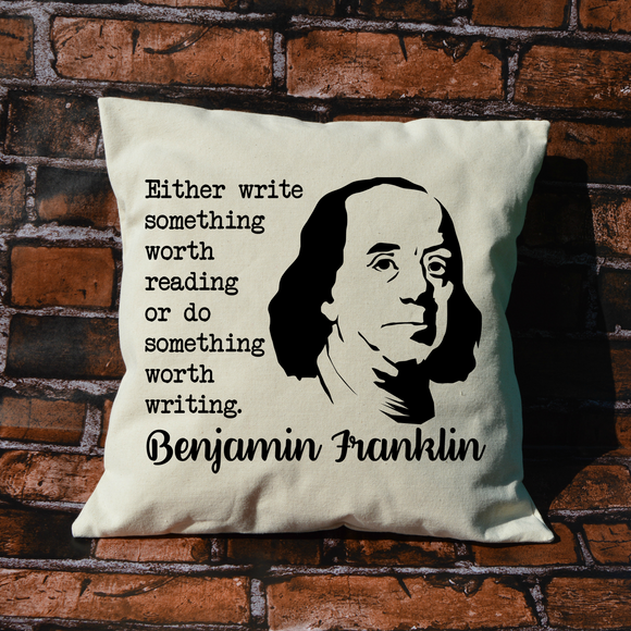 Benjamin Franklin Pillow