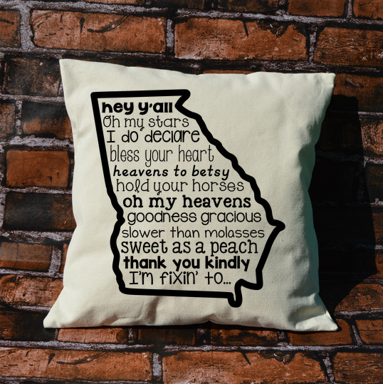 Georgia Sayings Pillow