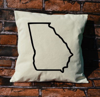 Georgia outline pillow