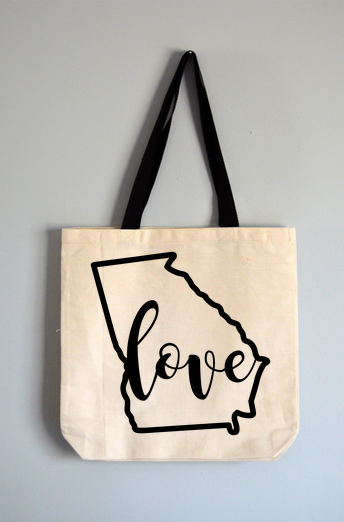 Georgia Love Tote Bag