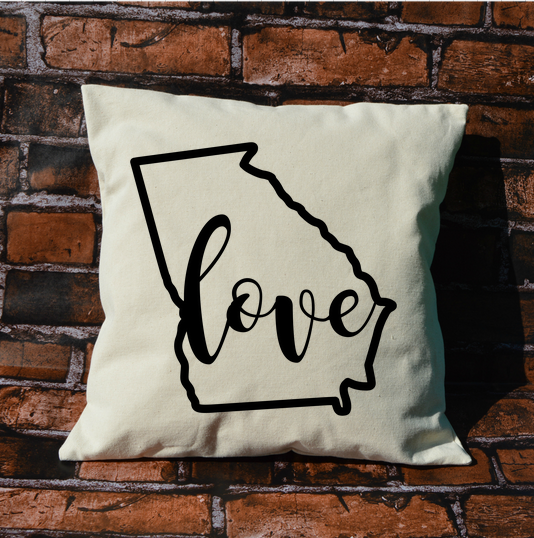 Georgia Love Pillow