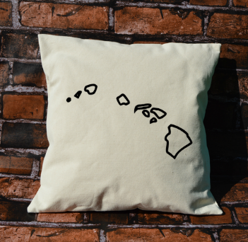 Hawaii Outline Pillow