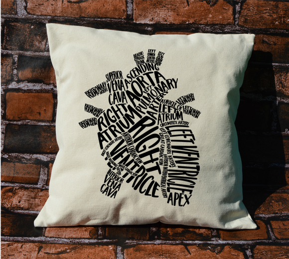 Heart Anatomy Pillow