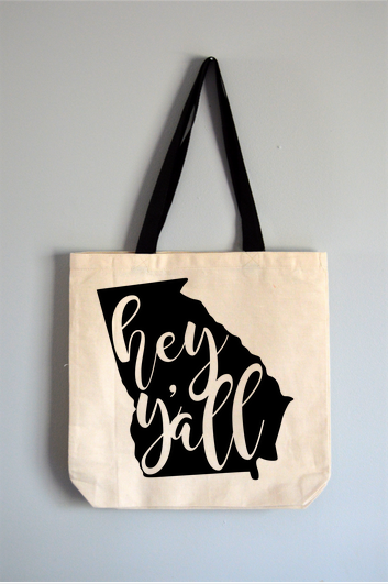 Georgia Hey Y'all Tote Bag