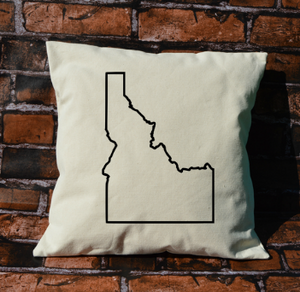 Idaho outline pillow