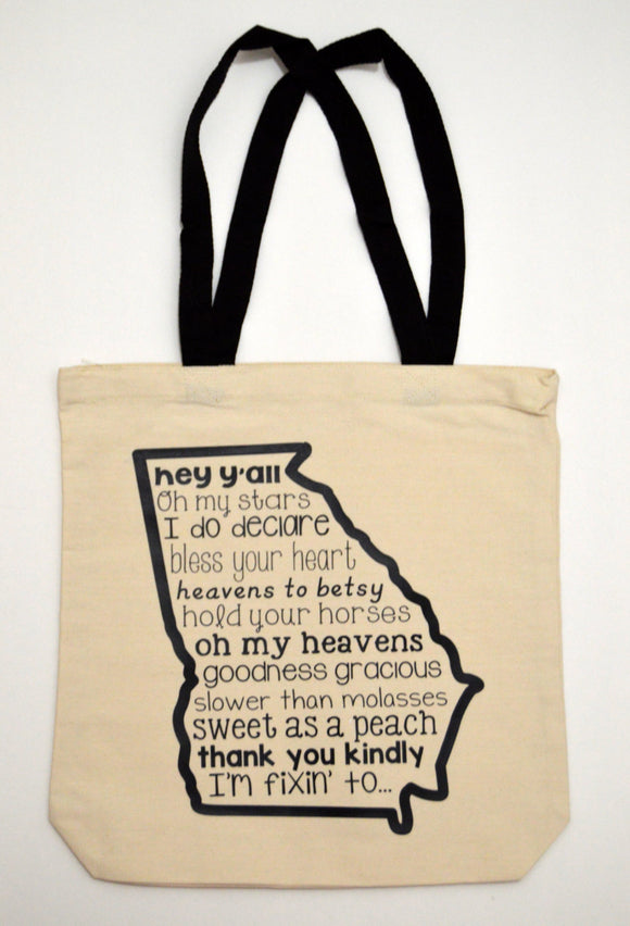 Georgia Sayings Tote Bag