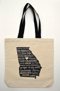 Georgia Words Tote Bag
