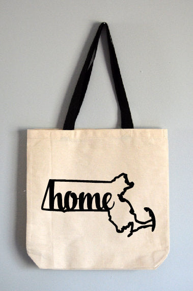Massachusetts Home Tote Bag
