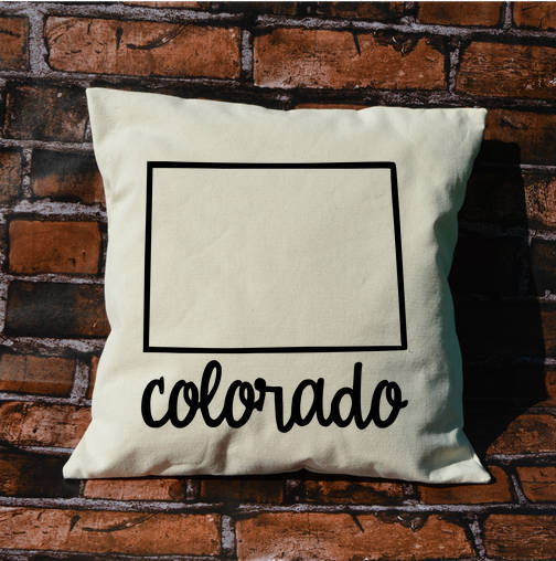 Colorado Name Pillow