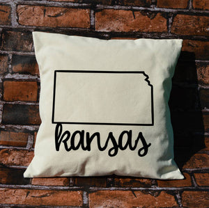 Kansas Name Pillow