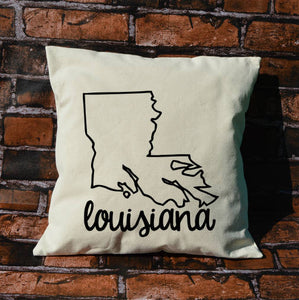 Louisiana Name Pillow