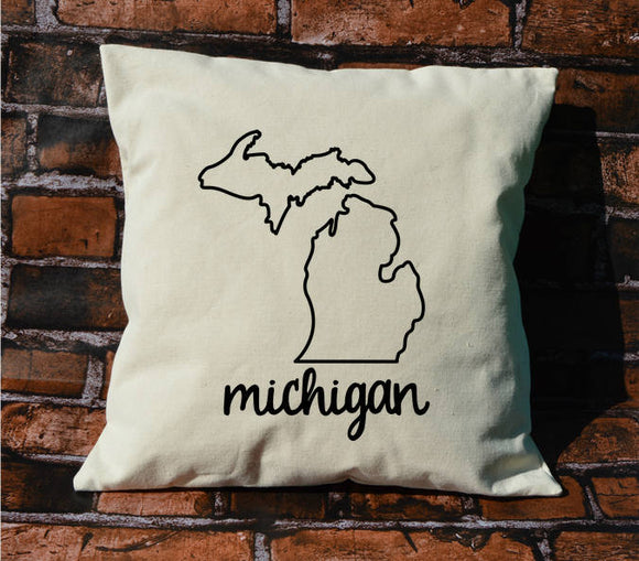 Michigan Name Pillow