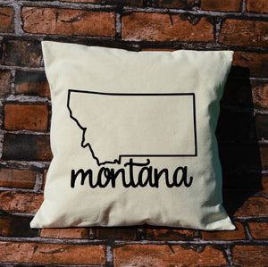 Montana Name Pillow