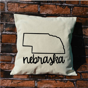 Nebraska Name Pillow