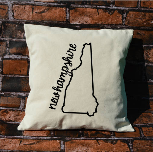 New Hampshire Name Pillow