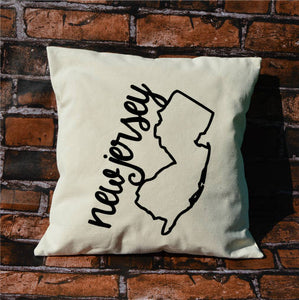 New Jersey Name Pillow
